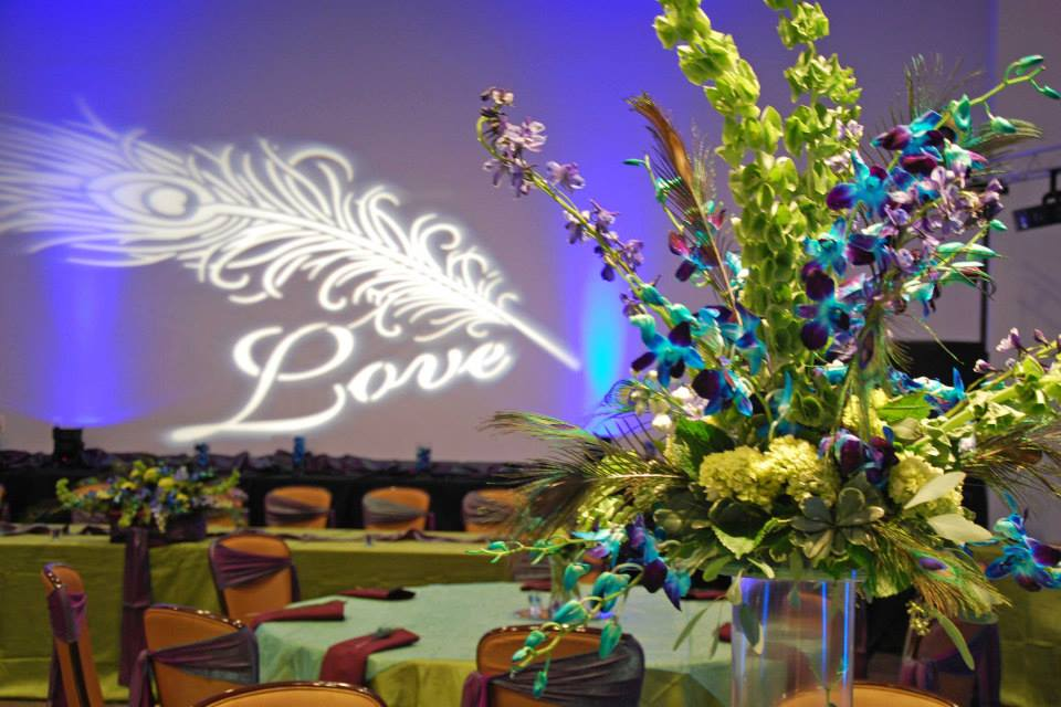 Wedding decor Floral Gobo National Infantry Museum GA