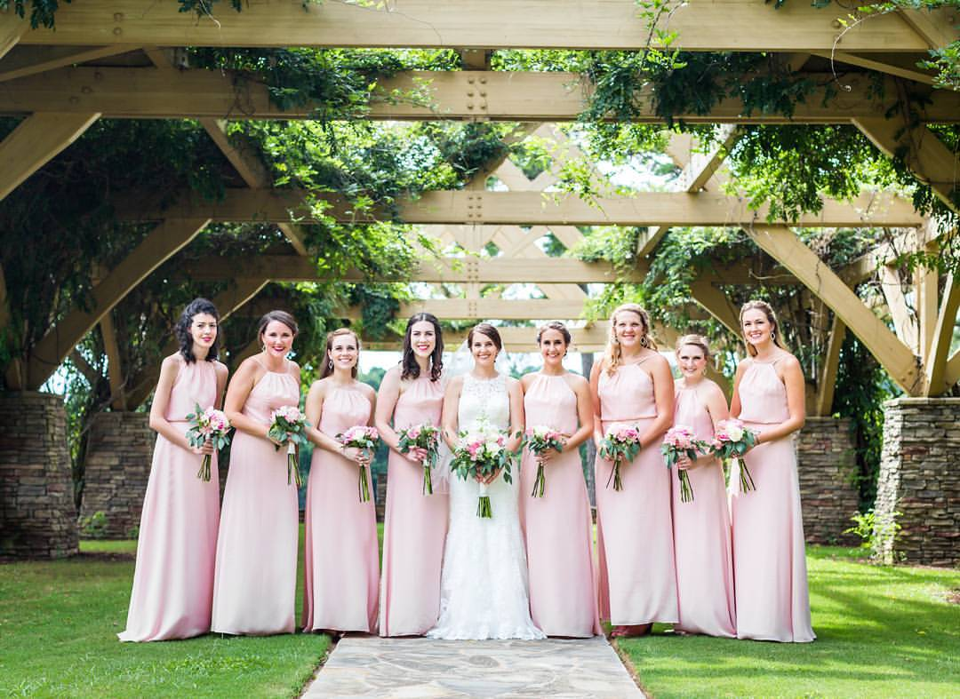 Bride Bridesmaids Flat Creek Country Club Peachtree City
