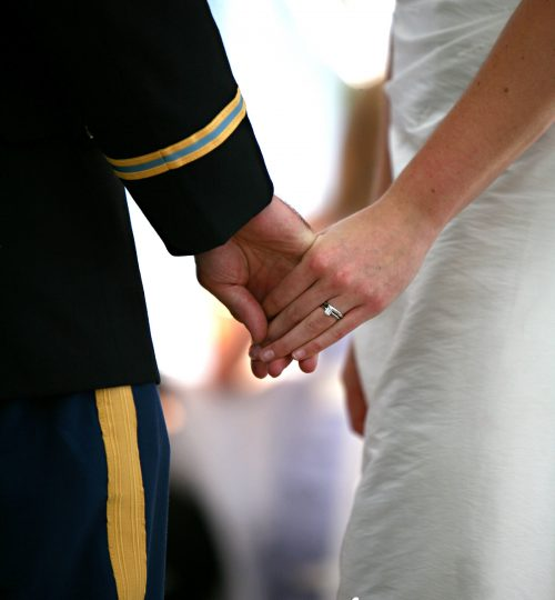 Joined Hands Fort Benning Wedding