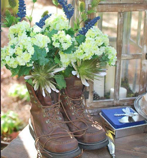 Wedding Boot Centerpiece Floral Thomaston GA