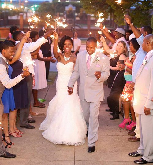 Wedding sparkler departure columbus ga