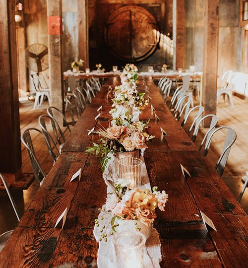 Wedding Table Decor Cherry Hollow Farm GA